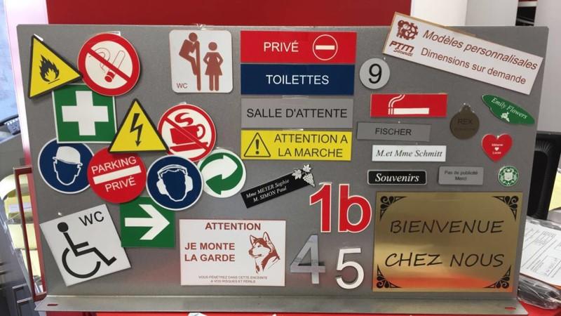 plaques personnalisable haut rhin mulhouse illzach ptm sécurité